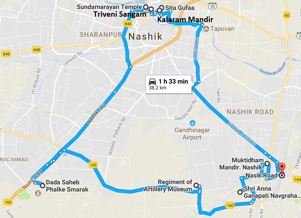 NashikShirdiAurangabad Travel With My Maps Of India